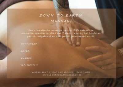Down To Earth Massage Cadeaubon